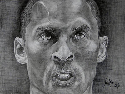 Drawing - Kobe Bryant by Stephen Sookoo