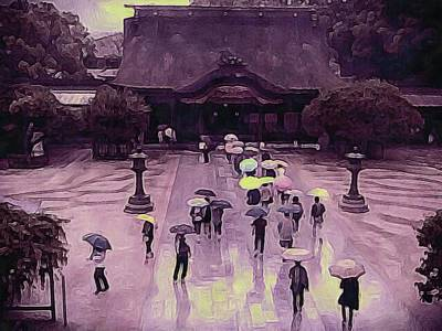 Photograph - Kobe Rain by Susan Maxwell Schmidt