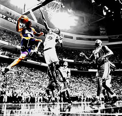 Kobe Taking Flight Art Print