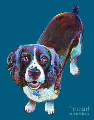 Painting - Koda The Spaniel by Robert Phelps
