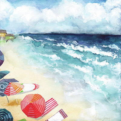 Beach Umbrella Wall Art - Painting - Kodachrome by Stephie Jones