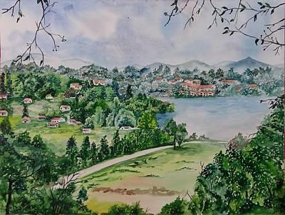 Kodai Lake View Art Print