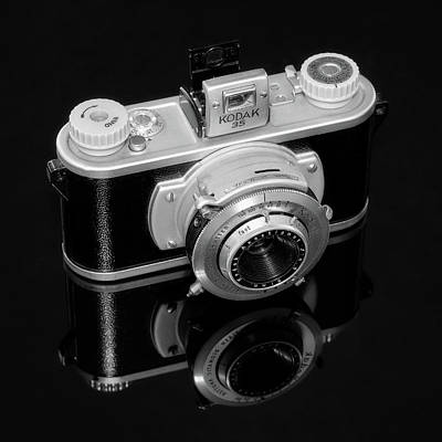 Vintage Camera Wall Art - Photograph - Kodak 35 Camera by Jon Woodhams