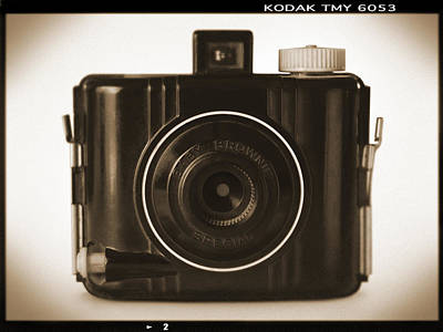 Vintage Camera Wall Art - Photograph - Kodak Baby Brownie by Mike McGlothlen