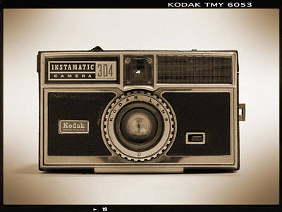 Kodak Instamatic Camera Art Print by Mike McGlothlen
