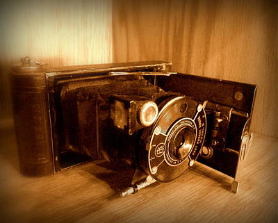 Photograph - Kodak Vest Model B Camera Sepia by Cindy Wright