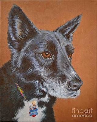 Dog And His Owner Painting - Kody by Claudine Pond