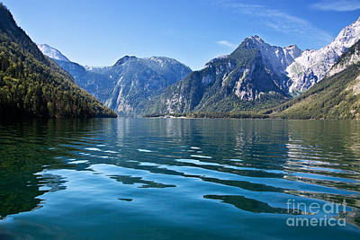 Lakeside Photograph - Koenigssee by Nailia Schwarz