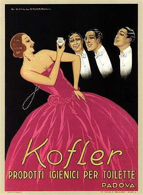 Royalty-Free and Rights-Managed Images - Kofler Prodotti Igienici Per Toilette - Padova, Italy - Vintage Advertising Poster by Studio Grafiikka