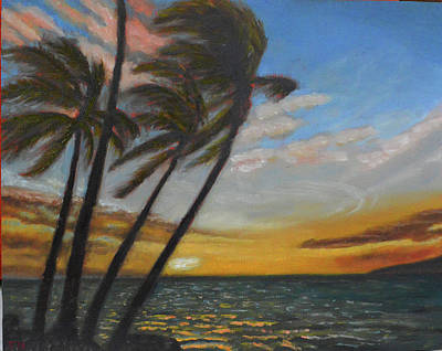 Painting - Kohala Sunset by Thu Nguyen