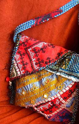 A Hand Mirror Tapestry - Textile - Koi     Ralli Quilt Bag by Krisha Fairchild