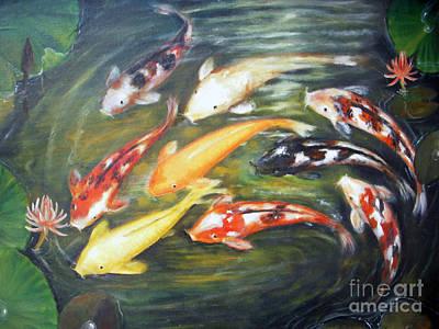 Koi 1 Art Print by Edy Sutowo