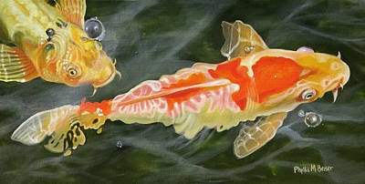 Painting - Koi 2 by Phyllis Beiser