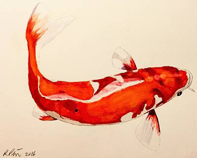 Painting - Koi 2 by Rob Peters