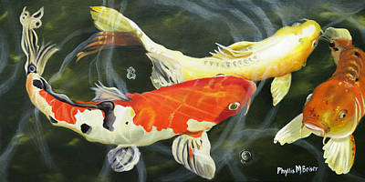 Painting - Koi 4 by Phyllis Beiser