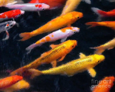 Photograph - Koi Abstract 1 by Michael Arend