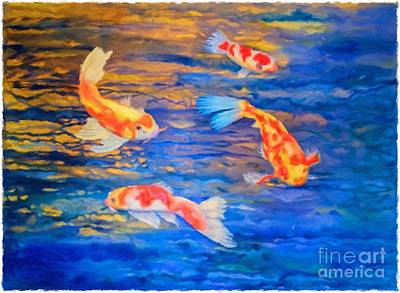 Painting - Koi At Play by Teri Atkins Brown