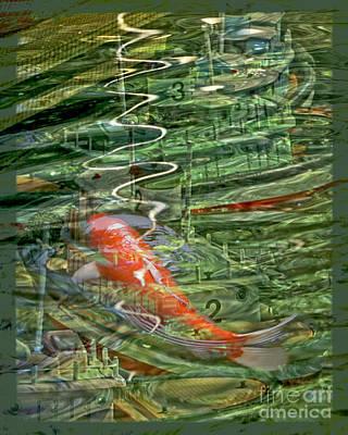 Koi Digital Art - Koi Boats by Chuck Brittenham