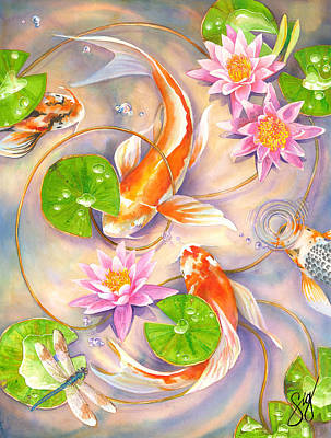 Painting - Koi Dance by Sigrid Tidmore