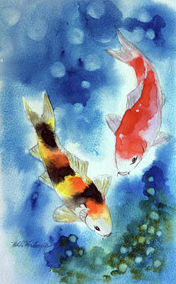 Painting - Koi Fish 4 by Hilda Vandergriff