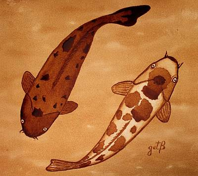 Koi Fish Feng Shui Art Print