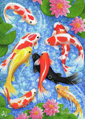 Painting - Koi Fish by Julia Underwood