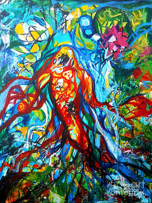 Painting - Koi Fish Mermaid by Genevieve Esson