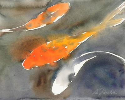 Painting - Koi Fish No.1 16x20 by Sumiyo Toribe