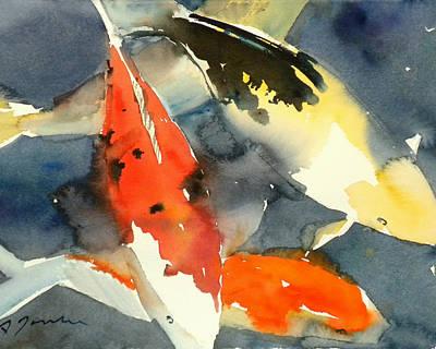 Painting - Koi Fish No.6 16x20 by Sumiyo Toribe
