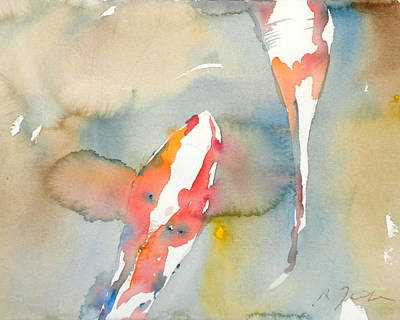 Painting - Koi Fish No.7 16x20 by Sumiyo Toribe
