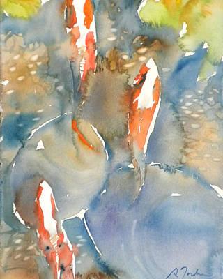 Painting - Koi Fish No.9 16x20 by Sumiyo Toribe