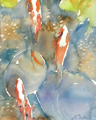 Painting - Koi Fish No.9 24x30 by Sumiyo Toribe