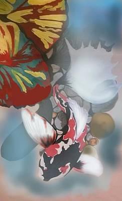 Koi Digital Art - Koi Fish by Sara Edwards