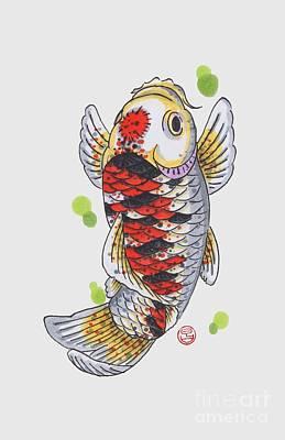 Koi Fish Print by Shih Chang Yang