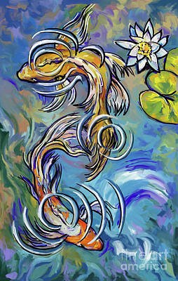Painting - Koi Fish by Tim Gilliland