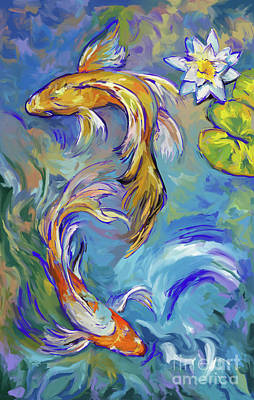 Painting - Koi Fish2 by Tim Gilliland