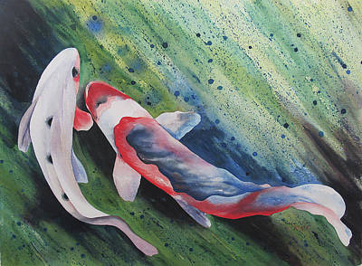 Painting - Koi II by Teresa Beyer