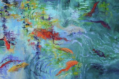 Painting - Koi In Motion by Julie Brayton