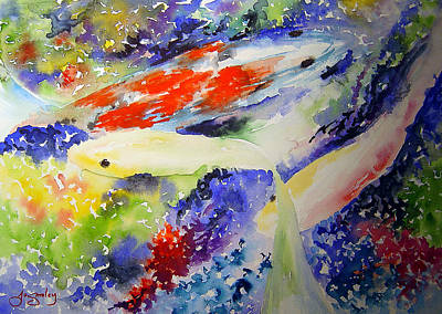 Painting - Koi by Joanne Smoley