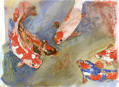 Painting - Koi by John Brisson