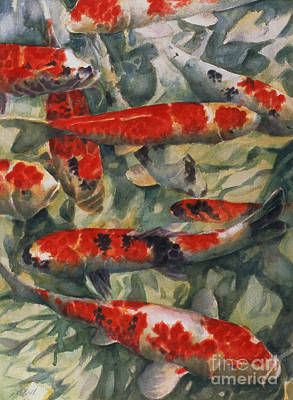 Goldfish Painting - Koi Karp by Gareth Lloyd Ball