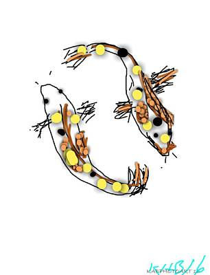 Simplicity Drawing - Dont Be Koi by Kathy Barney