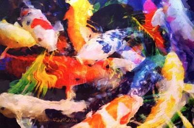 Painting - Koi by Lelia DeMello
