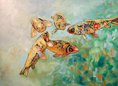Painting - Koi by Lynne Haines
