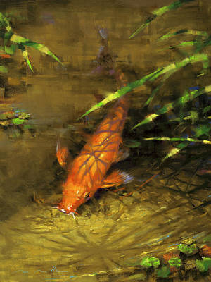 Painting - Koi by Mark Mille