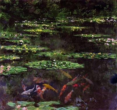 Koi N Monet's Pond Original