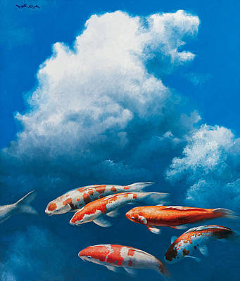 Painting - Koi by Paul Collins