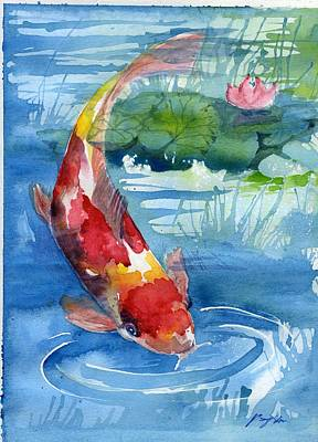 Painting - Koi by Ping Yan