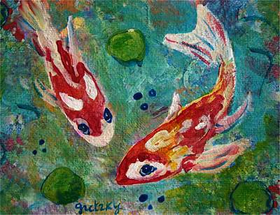 Koi Painting - Koi Pond 2 by Paintings by Gretzky