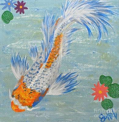 Painting - Koi Pond Blue by JoNeL Art